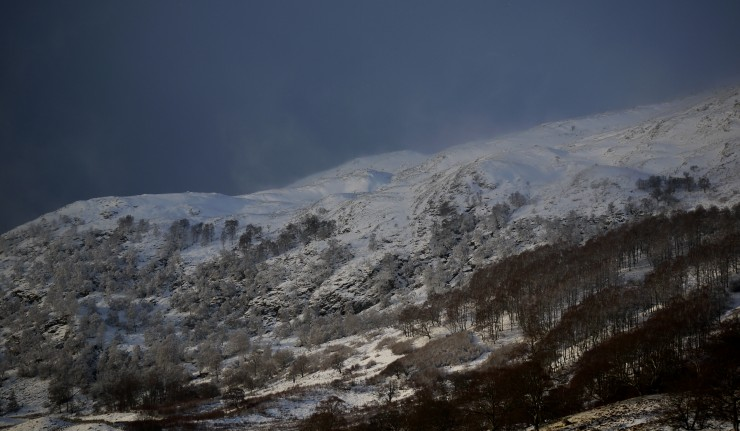 On the way to work: Creag Dubh nr Newtonmore this morning. Drifting at 650m