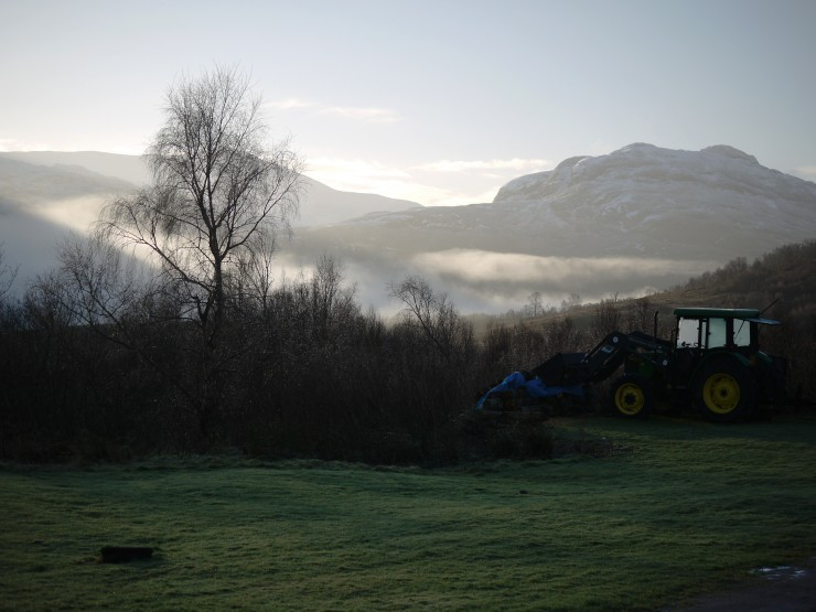Low level mist in glens early this morning.