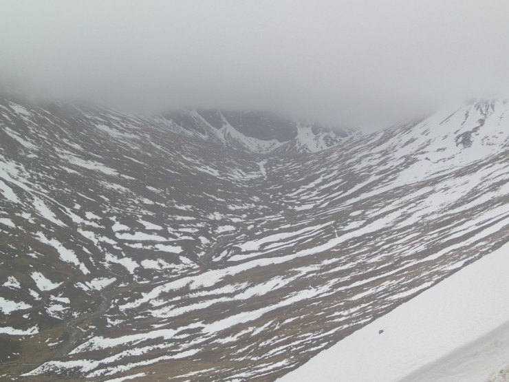 Coire Ardair today as I dropped below the cloud base.
