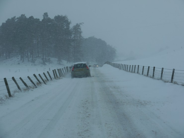 """The A86 this morning.  in police parlance """"passable with care""""."""