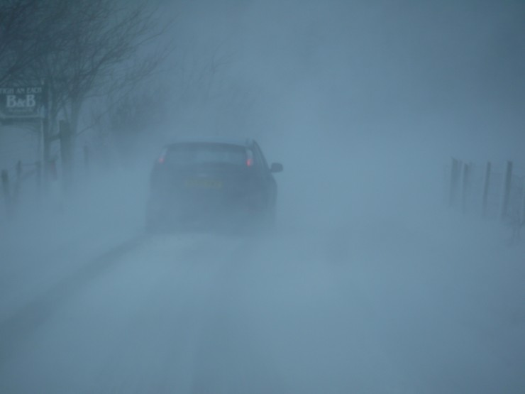 """""""Driving"""" on  the way home this afternoon. The A86 under there somewhere..."""