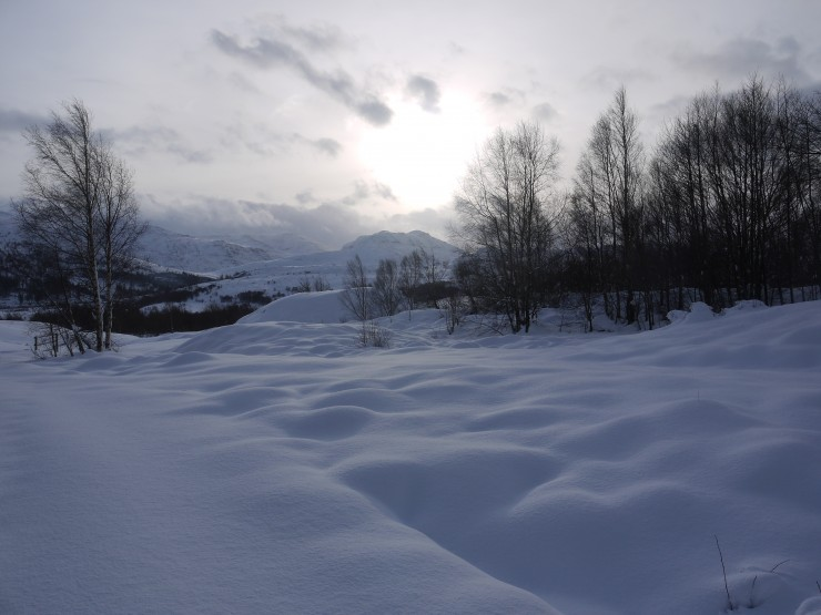 The white duvet has descended on Creag Meagaidh
