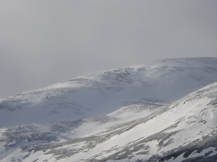 Looking across to the Bealach of Sron a Ghoire from Cairn Liath
