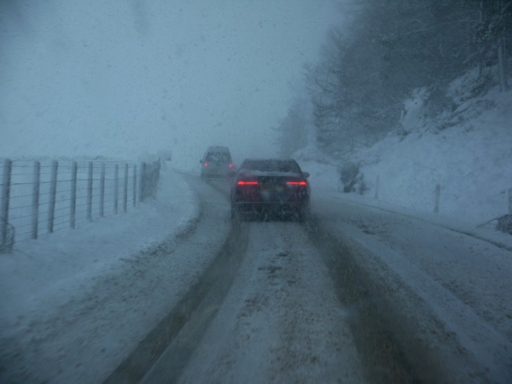 A86 was difficult all day with jack-knifed lorries here & there.