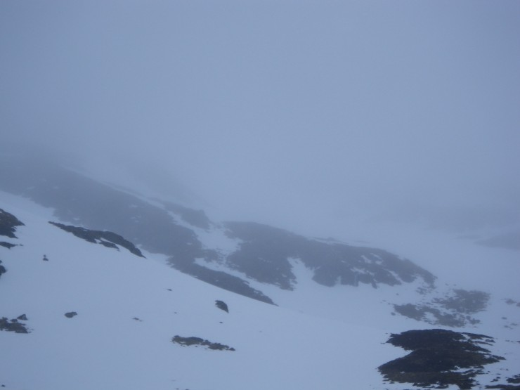 A murky Coire a Chriocharein,  high on the North flank of Coire Ardair