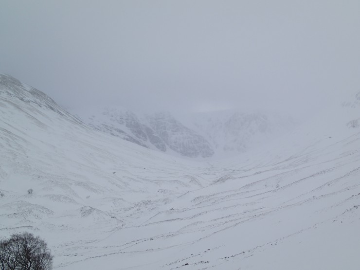 The best view I had of Coire Ardair today.