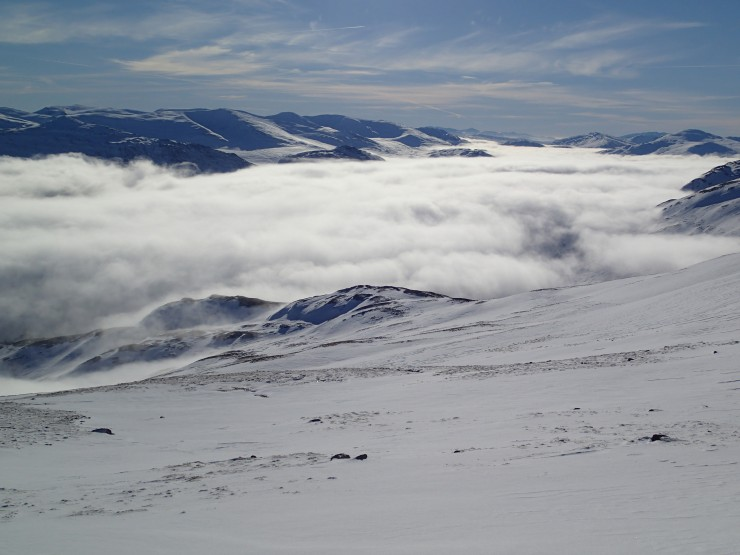 During my early afternoon descent from Carn Liath.