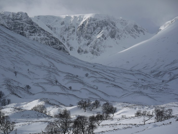 The Post Face of Coire Ardair today.