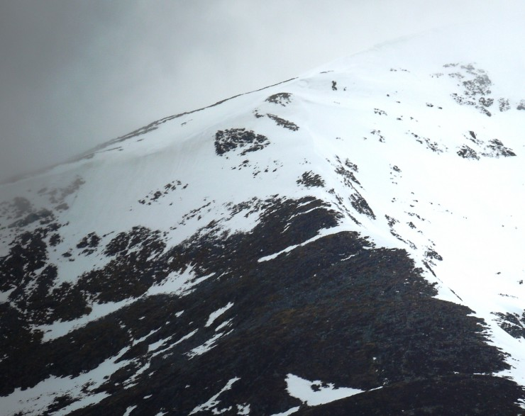 Beinn a Chaorainn. The 'other' east ridge (we call it South Ridge)  - the site of today's formal snow pit.
