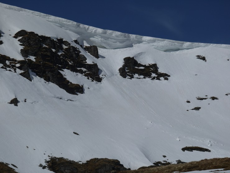 Some very large and still thawing cornices in our area.
