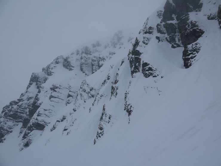 Full on winter up high in the Inner Coire.