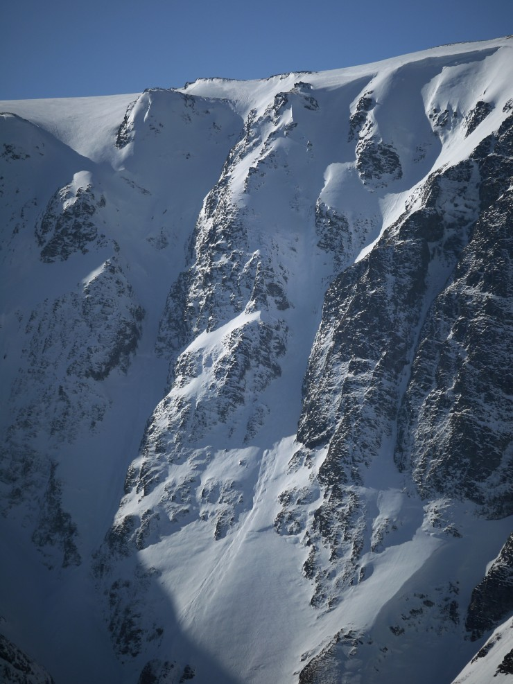 The Post face principal gully lines. Left to right: South Post, Centre Post and North Post.