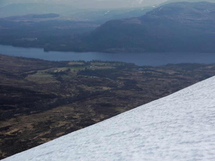 Looking down to Aberarder. Very brown and dry down there.