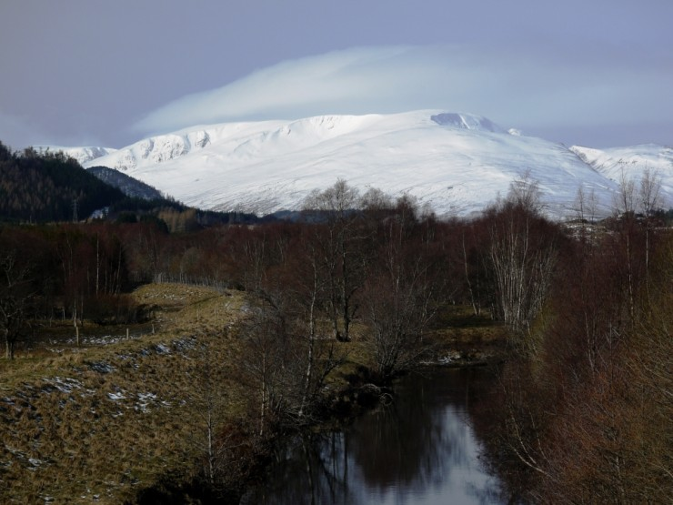 Carn Liath from the river Spey