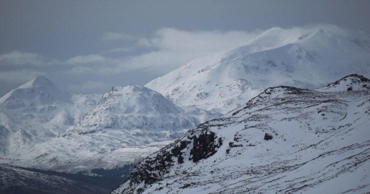The Grey Corries from high in the Moy Corrie.