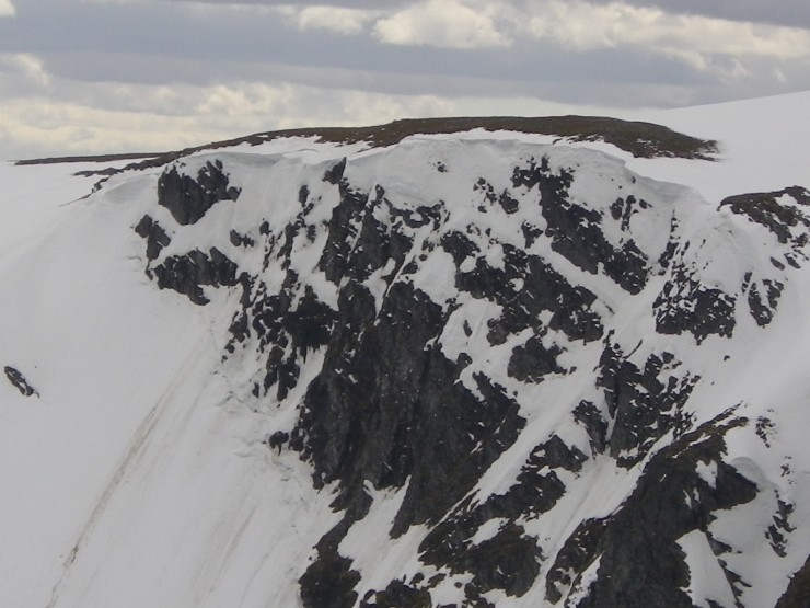 Top of Easy Gully towards main 'Post Face'