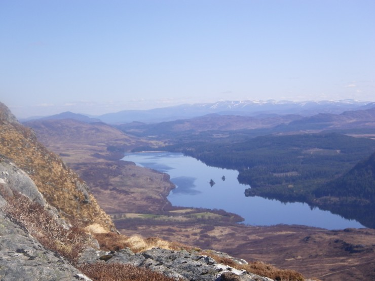 Looking East down Loch Laggan from Creag Mhor Ridge