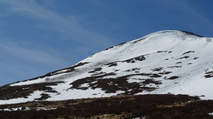 Wet snow avalanche (which was not there yesterday) on Sron a Ghoire.