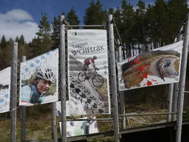 New cafe open at 'Wolftrax' a few miles east of Creag Meagaidh