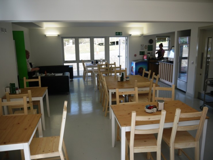 Inside the cafe. Great facilities for mtn bikers and other visitors.