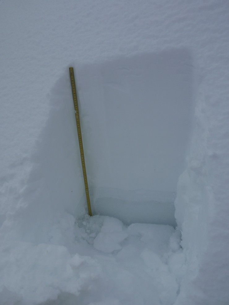 70cm of newly drifted snow at 710m.