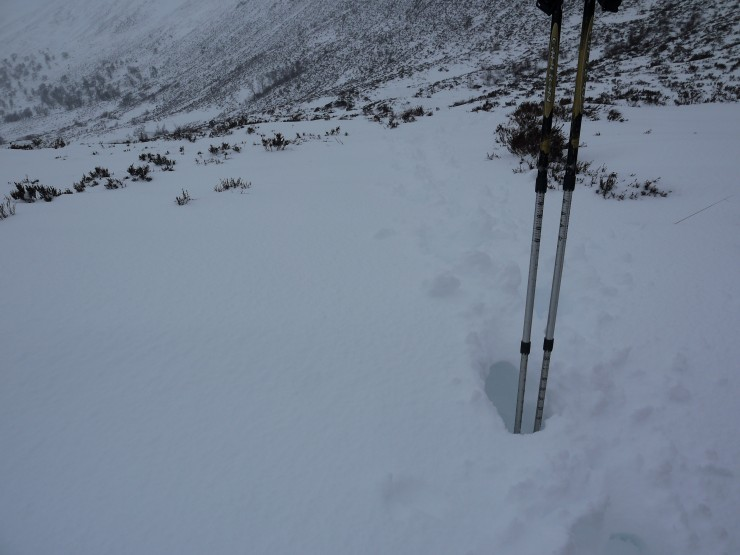 Coire Ardairt path at 450m this morning.