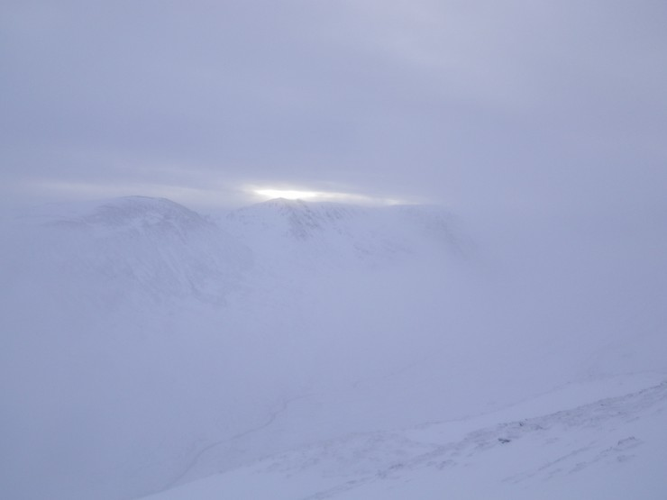 Clearing skies above Coire Ardair