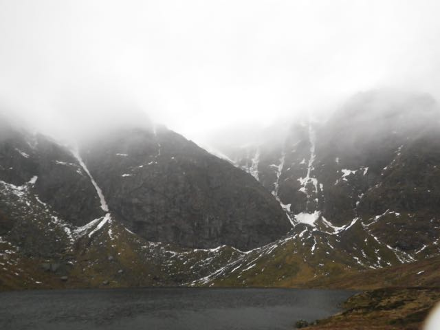 Some snow and ice remaining in Coire Ardair.