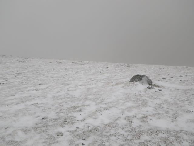 Thin cover on plateau at 950 metres.