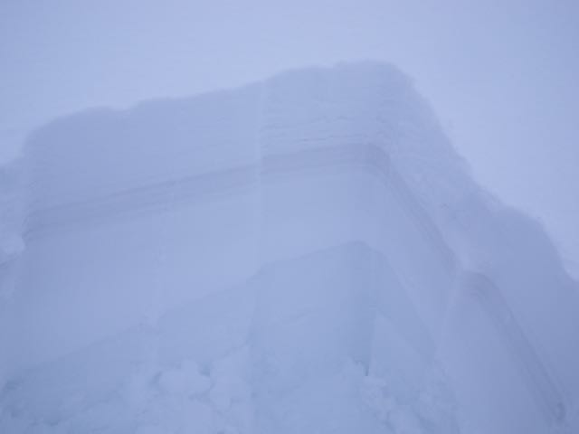 Most of the layers in today's snow pit were obvious visually.
