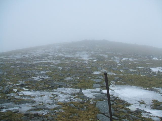 Carn Liath plateau looking bare at 960 metres.