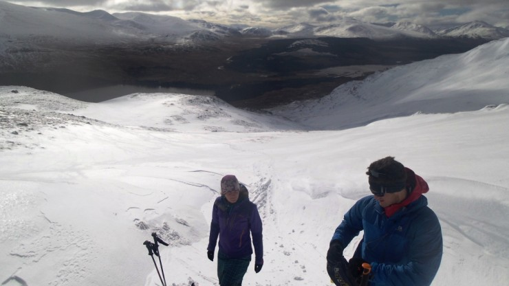 720m on the Creag Mhor ridge.