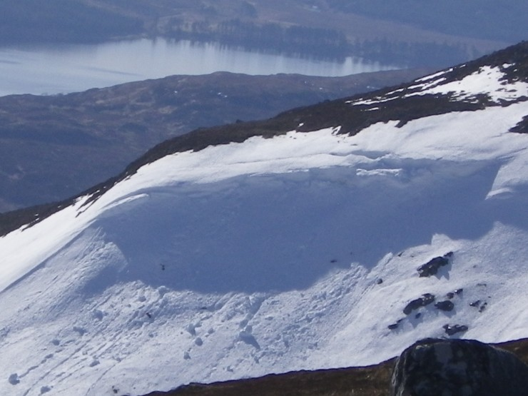 A few wet snow instabilities today on steep sun affected slopes