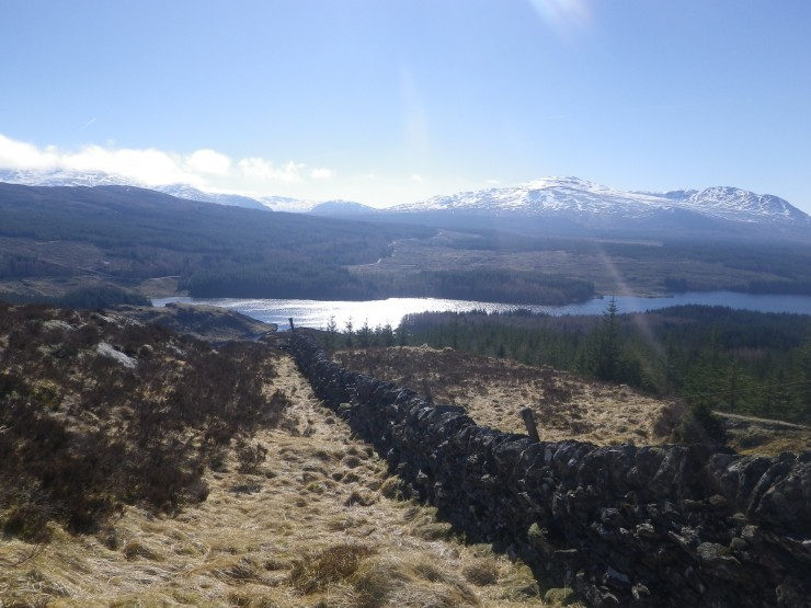 The home run - a dogged pursuit of the Moy Wall to Loch Laggan (not paticularly recommended as a descent line!)