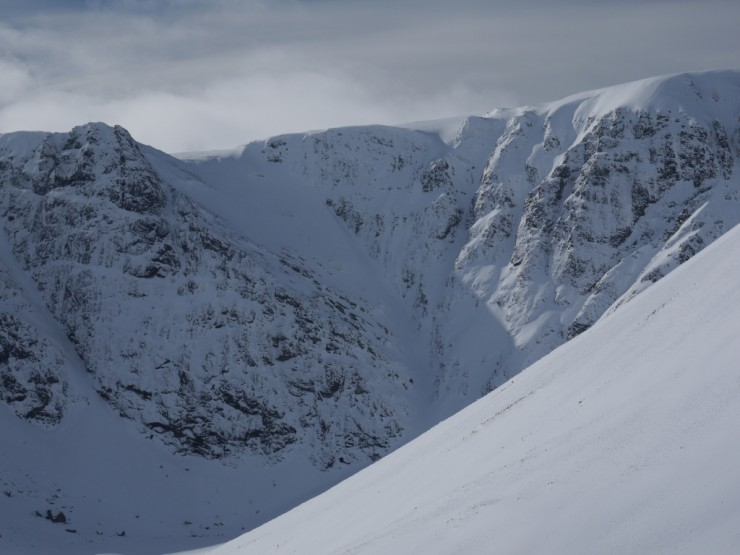 The Post Face and Pinnacle Buttress today.