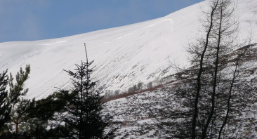 More avalanches cross the path in Coire Ardair