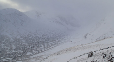 Moving snow and poor visibility at higher levels