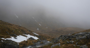 In search of snow in upper Coire Choille Rais